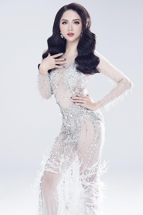 Vẻ sexy của Hương Giang khi tham dự Hoa hậu chuyển giới - 1