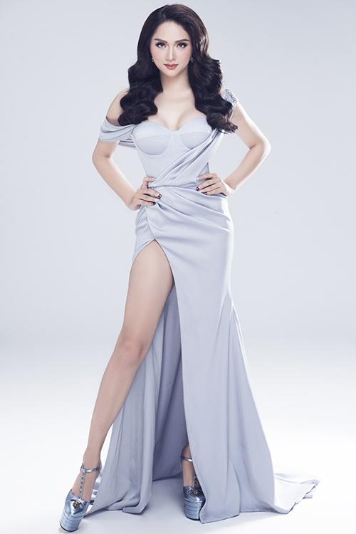 Vẻ sexy của Hương Giang khi tham dự Hoa hậu chuyển giới - 3