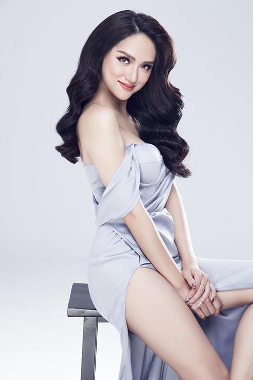 Vẻ sexy của Hương Giang khi tham dự Hoa hậu chuyển giới - 5