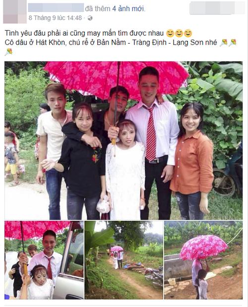 Hình ảnh đám cưới của cặp đôi ở Lạng Sơn gây chú ý.