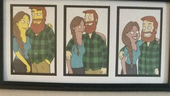 Chàng trai biến bạn gái thành loạt nhân vật hoạt hình - 1