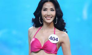 Ít ai biết Hoàng Thùy ngã 'sấp mặt' ở chung kết Hoa hậu Hoàn vũ