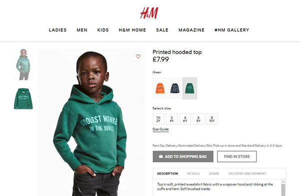 H&M bị tẩy chay vì để mẫu nhí da màu mặc áo ghi chữ chú khỉ