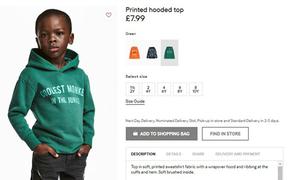 H&M bị tẩy chay vì để mẫu nhí da màu mặc áo ghi chữ 'chú khỉ'