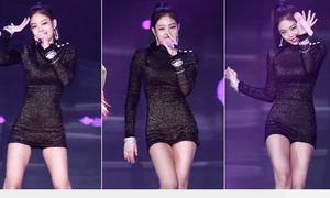 'Idol sang chảnh' Jennie khoe hình thể với chiếc váy hàng hiệu