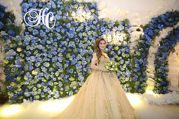 Cô dâu Lâm Khánh Chi xinh đẹp.
