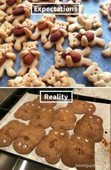 Cookie gấu ôm hạnh nhân biến thân thành ma nâu dọa khỉ.