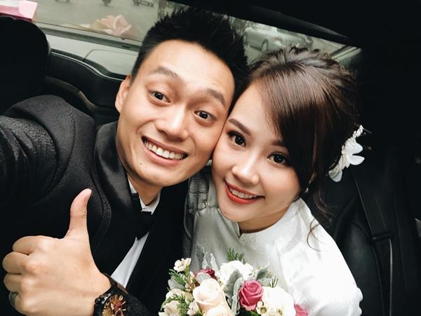 Chú rể Nhật Anh Trắng và cô dâu xinh như hot girl.