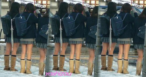Giữa mùa đông, nữ sinh Nhật Bản vẫn kiên cường mặc váy ngắn đến trường - 5