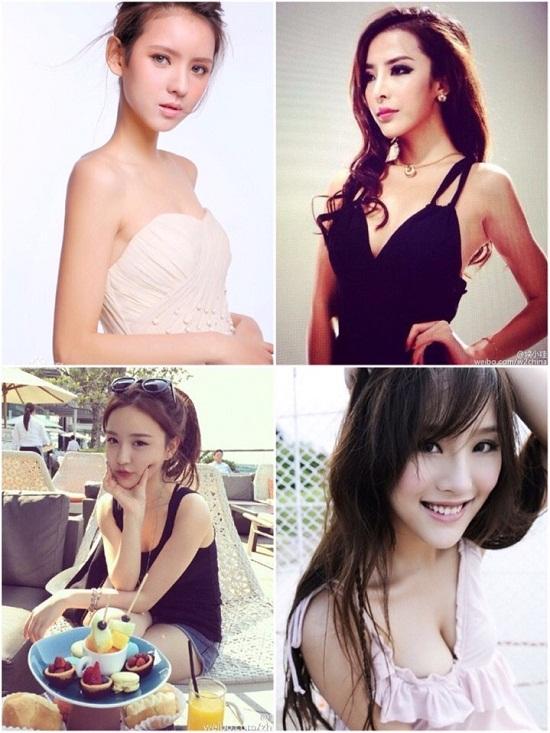 Một số bạn gái cũ của Vương Tư Thông.