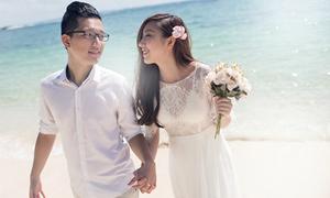 Em gái Trấn Thành lên xe hoa cùng bạn trai người Hong Kong