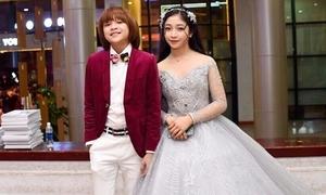 Thiên Khôi điển trai bên 'công chúa tóc mây' Hồng Minh