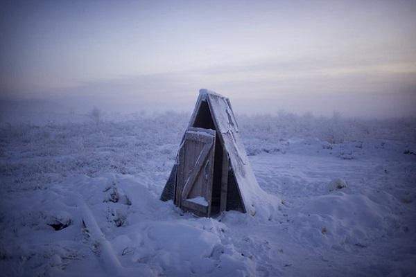 Một nhà tắm ngoài trời của người dân nơi đây.