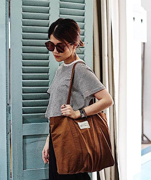Chán túi da, ba lô sang chảnh, con gái Việt giờ chỉ thích túi vải bố đậm chất Hàn - 6