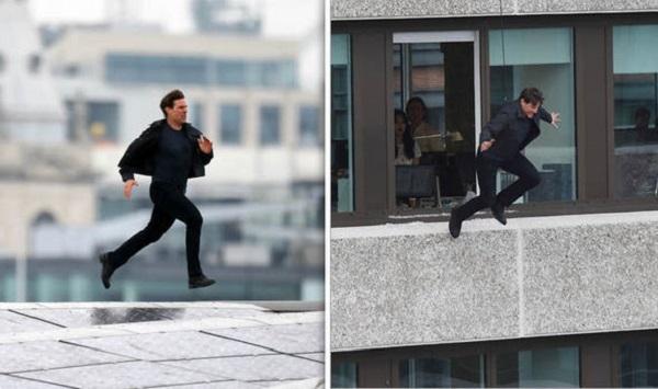 Trở lại sau chấn thương, Tom Cruise lại chạy nhảy như bay trên nóc các tòa nhà ở London.