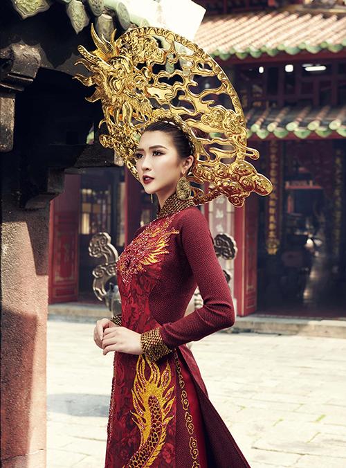 Trang phục dân tộc của Tường Linh tại Hoa hậu Liên lục địa - 1