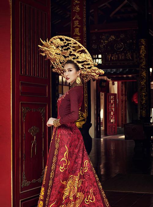 Trang phục dân tộc của Tường Linh tại Hoa hậu Liên lục địa - 5