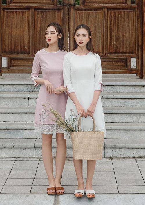 Mốt áo dài váy đụp bị chê tơi tả vẫn sốt xình xịch Tết 2018 - 4
