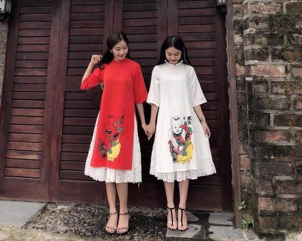 Mốt áo dài váy đụp bị chê tơi tả vẫn sốt xình xịch Tết 2018 - 7