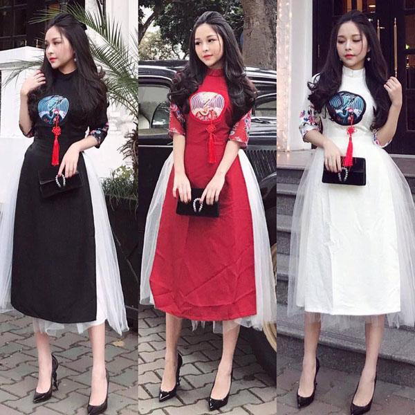 Mốt áo dài váy đụp bị chê tơi tả vẫn sốt xình xịch Tết 2018 - 8