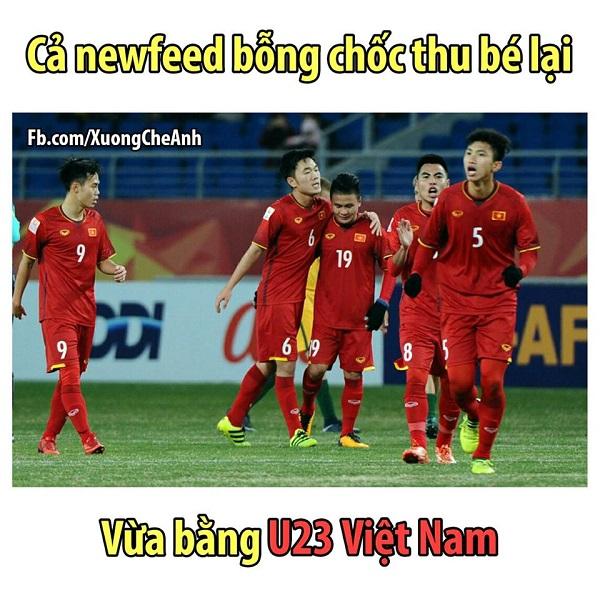 Sau đêm qua, cả Việt Nam bỗng chốc thu bé lại vừa bằng U23.