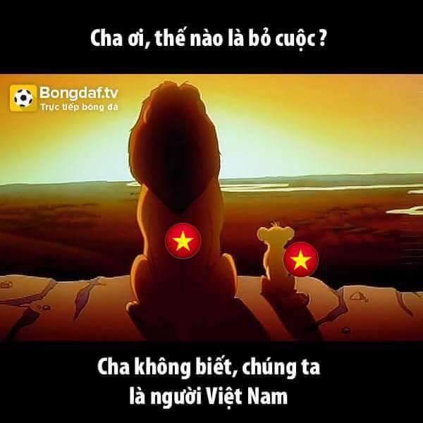 Là người Việt Nam, quyết không bỏ cuộc và thất bại!