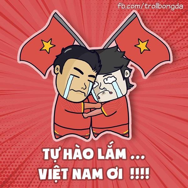 Các cổ động viên Việt Nam vỡ òa trong hạnh phúc.
