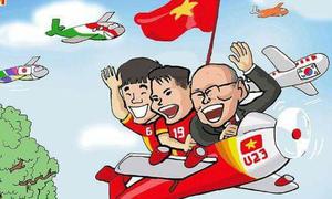 Dân mạng chế ảnh hài hước ăn mừng chiến thắng của U23 Việt Nam