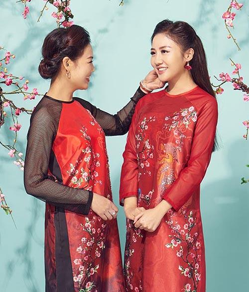 Văn Mai Hương khoe mẹ trẻ trung trong bộ ảnh đón Tết - 1