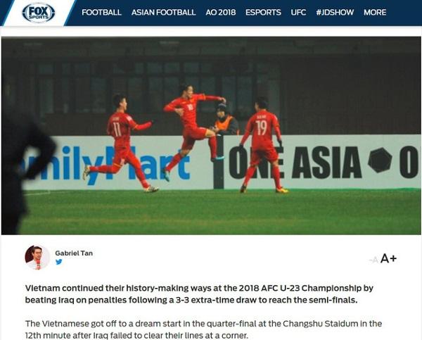 Hàng loạt báo lớn Châu Á khen ngợi chiến thắng của U23 Việt Nam - 1