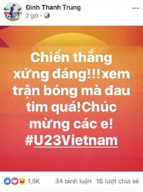 Công Vinh, Quốc Vượng, Đinh Ngọc Hải lên tiếng khen ngợi U23 Việt Nam - 3