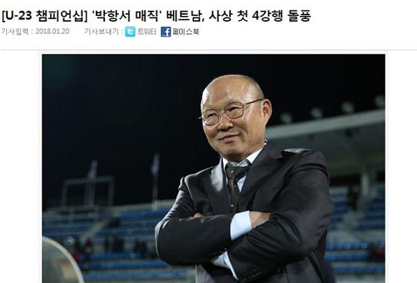 Tờ Sportalkorea cho rằng Việt Nam đang làm nên những điều không tưởng.