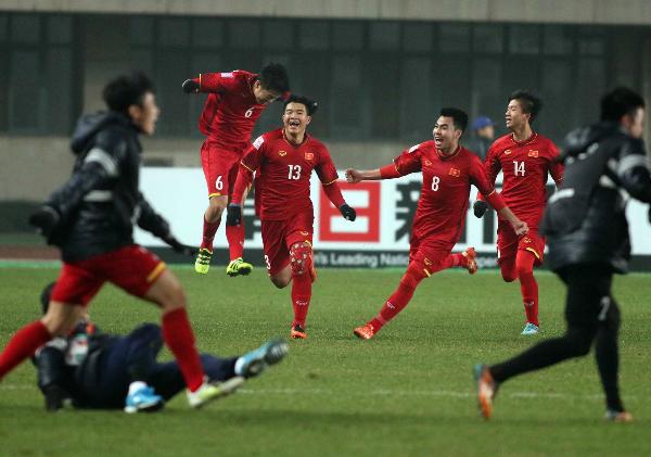 Tuyển U23 Việt Nam có một chiến thắng làm nên lịch sử.