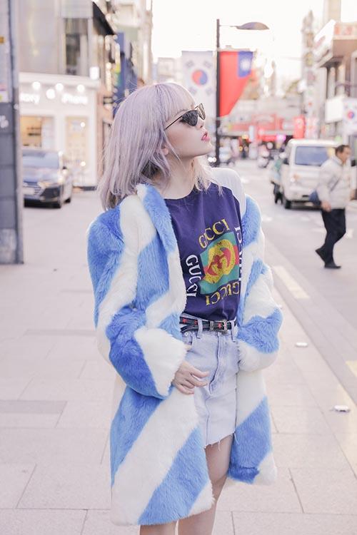 Thiều Bảo Trâm khoe style cool girl sành điệu - 3