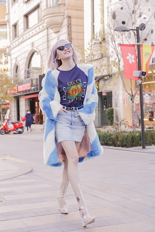 Thiều Bảo Trâm khoe style cool girl sành điệu