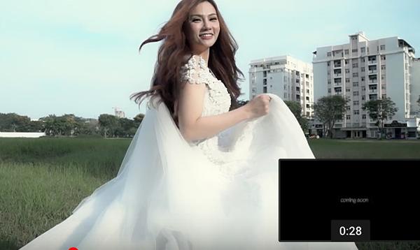Thu Thủy làm cô dâu xinh đẹp trong MV.