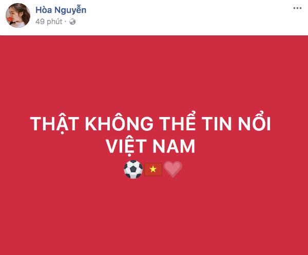 HHen Niê, Bảo Anh nhảy cẫng như bắt được vàng khi U23 Việt Nam chiến thắng