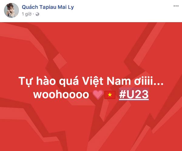 HHen Niê, Bảo Anh nhảy cẫng như bắt được vàng khi U23 Việt Nam chiến thắng - 1