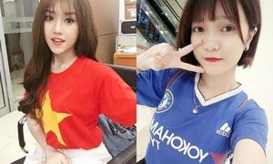 Hai girl xinh chế 'Người lạ ơi' cổ vũ U23 Việt Nam trước bán kết