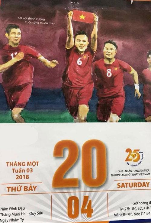 Quyển lịch tiên tri đầy thú vị với dự đoán thần kỳ về U23 Việt Nam