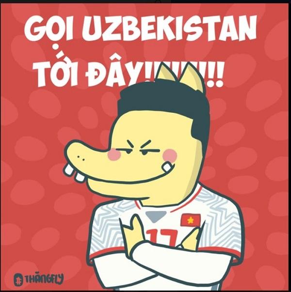 Chiến thắng của Việt Nam trước những tên tuổi lớn trong làng bóng đá Châu Á cũng khiếnUzbekistan phải e dè.