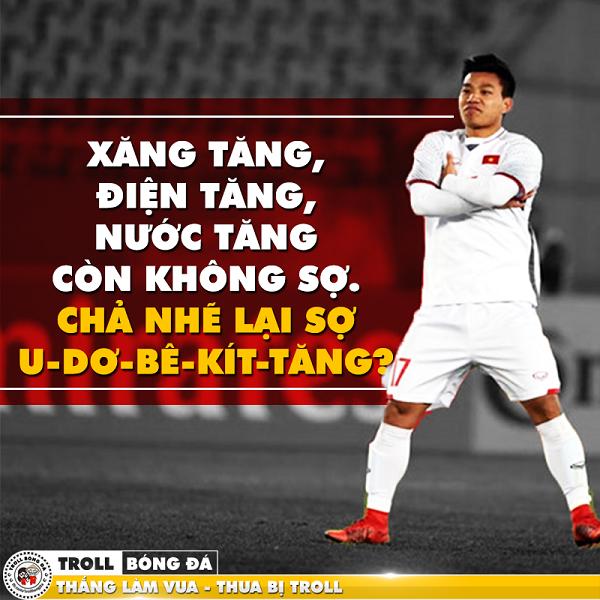 Huấn luyện viên U23Uzbekistan cũng phải công nhận kỹ thuật và tuyên bố sẽ phải đề phòng hai cầu thủ của U23 Việt Nam là Công Phượng (áo số 10) và Quang Hải (số 19).