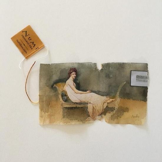Tranh vẽ nghệ thuật đầy tinh vi trên túi trà lọc - 1