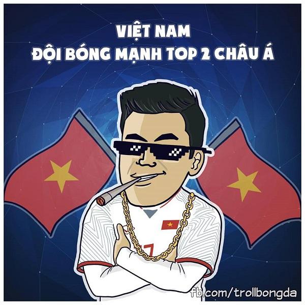 Chính thức bước vào chung kết U23 Châu Á đồng nghĩa với việc Việt Nam là một trong hai đội tuyển bóng đá mạnh nhất Châu Á.