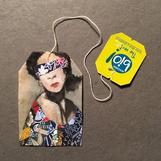 Tranh vẽ nghệ thuật đầy tinh vi trên túi trà lọc - 4