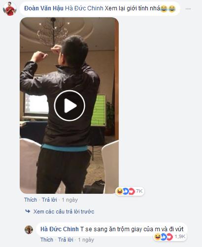 Đức Chinh dằn mặt Đoàn Văn Hậu khi bị tung clip giả gái.
