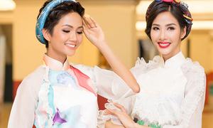 Sau đăng quang, Hoàng Thùy - H'Hen Niê quay lại làm người mẫu