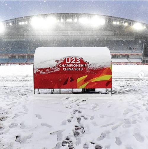 Mưa tuyết khiến CĐV lo lắng trận chung kết của U23 Việt Nam sẽ bị hoãn - 7