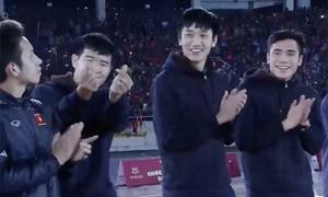 Các chàng trai U23 Việt Nam được vinh danh gây xúc động