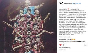 Seung Ri bất ngờ đăng ảnh chúc mừng U23 Việt Nam